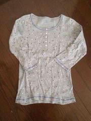 ユニクロ ドッド柄 長袖Tシャツ