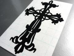 ∇十字架クロス 特大 カッティングステッカーA∇十字 シール