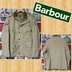 Barbour バブアー 裏地カモフラ 迷彩 ジャケット 美品 L 英国 アウトドア
