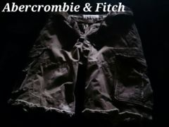 【Abercrombie&Fitch】Vintage Destroy ベルト付カーゴショーツ 34/Olive