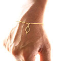 メタルダイヤフレーム 1ミリ ゴールド ブレスレット
