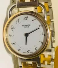 良品エルメスアルソーレディース時計シルバーブレス稼働品