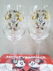評価8000達成記念Disney/ミッキー&ミニーペアワイングラス