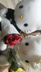 送料込み サンリオ ハローキティとダニエル 結婚式 ウエディング 正装 花束
