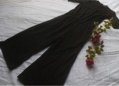 GU半袖オールインワン黒つなぎLサイズ