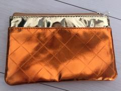 新品ドクターシーラボミニポーチケースゴールドオレンジ金バッグカバン