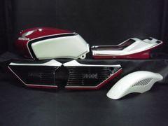 S-432◆CBX400F用◆純正風ペイント外装一式◆赤×白 �T型