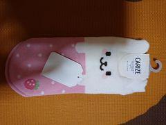 新品、靴下、くつ下、22�p〜25�p、動物、イチゴ、苺、ピンク色