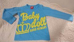 ★BABY DOLL★ブルーのロングTシャツ★2回着用品★90