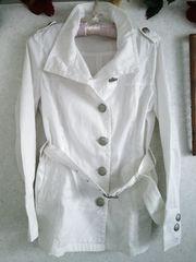 ★ホワイトのスプリングコート☆カッコいい♪