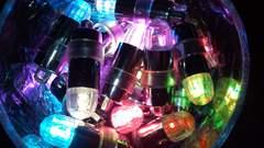 ☆ LED* イルミネーション☆  専用電池30個付き◆color:パープル色