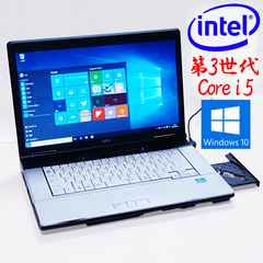 15.6型LCD HDDリカバリ 3世i5 LIFEBOOK E742 Win10Pro DVD 無線 SD