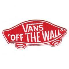VANS(バンズ)OFF THE WALL■ワッペン■赤白