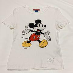LIU JOリュージョーミッキーマウスTシャツ白XS
