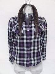○フードつきチェックシャツ/150