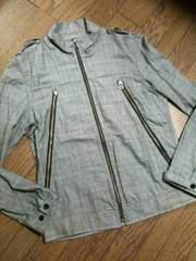 美品SHIPS JET BLUE チェックジャケット 日本製 シップス