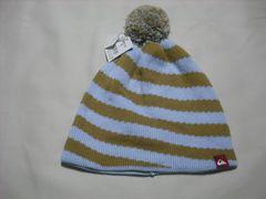 mb608 男 QUIKSILVER クイックシルバー ボンボン付き ニット帽
