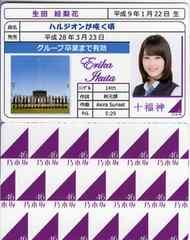 生田絵梨花 ハルジオンが咲く頃 免許証カード 乃木坂46 十福神