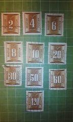 ハンガリー数字切手10種類♪