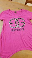 RAYALICE  150 ピンク半袖アシメカットソーused