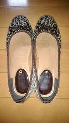 ヒョウ柄の靴