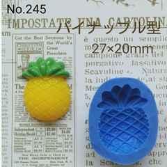 スイーツデコ型◆パイナップル◆ブルーミックス・レジン・粘土