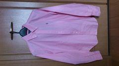 訳あり激安77%オフポロラルフロールン、ロゴ刺繍、長袖シャツ(新品タグ、ピンク、L)
