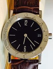良品ブルガリブルガリメンズ時計BB30SDレッドレザーベルト