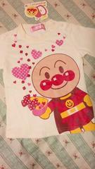 新品アンパンマン半袖 Tシャツ定価\1620クリームハートドキンちゃん