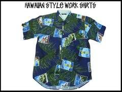新品ビッグサイズ・ハワイアンスタイルS/S半袖シャツ (4XL)#233
