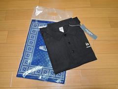 新品チャレンジャーCHALLENGERポロシャツS黒パンダ鹿の子