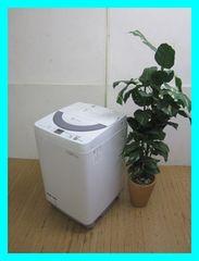 シャープ洗濯機(穴なし槽カビぎらい)ES-GE55N-Sシルバー系2013年製