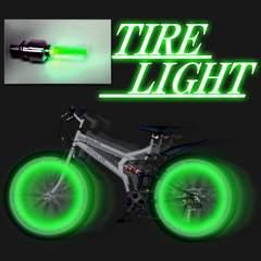 LEDホイールフラッシュ☆グリーン☆4個1セット