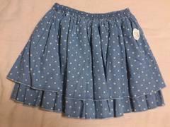 新品タグ付き roughで購入の水玉2段フリルスカート☆