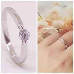指輪 18K RGP プラチナシンプル 上品 リング yu1099e