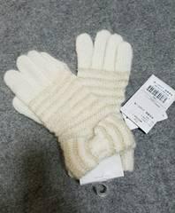 ★新品★アンテプリマ★手袋★オフホワイト×ゴールド★4104円★