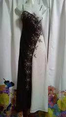 (ム)JEAN ACLEAN・ビーズバイカラーキャミロングドレス