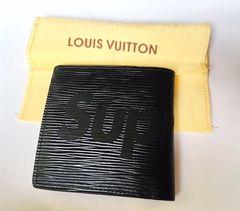 新品 Louis Vuitton×Supreme 黒 二つ折り財布 ノベルティ