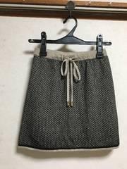 新品LIME STONEツイード風ボックススカート台形スカートベージュ