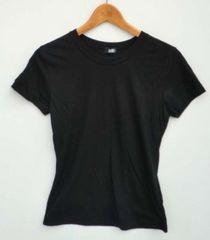 新品柔らかコットン半袖Tシャツブラック