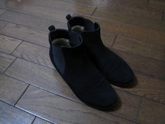 ○ダイアナ○サイドゴアショートブーツ スウェード 黒 23.5