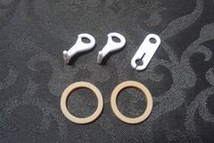 新品/プラレール/連結部品3点&ゴムタイヤ2点セット