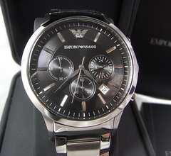 本物確実正規美品エンポリオアルマーニ クロノグラフ腕時計AR-2434