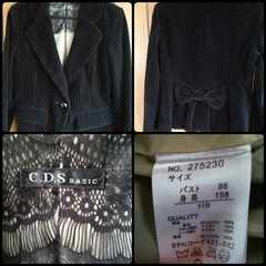 バックリボン付きかわいいジャケット