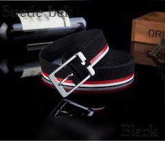 ベルト スエード レザーベルト メンズ レザー 革 カジュアル 黒