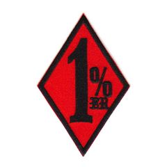 1%er(ワンパーセンター)S*ワッペン*赤黒#wpr004