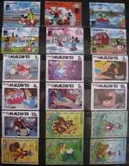 海外ディズニー切手 18枚 ◆