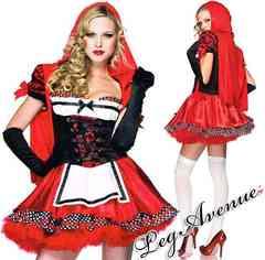 A325)LegAvenue赤ずきんコスチュームMハロウィン衣装ディズニーコスプレ仮装サンタ