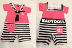 ★新品★ミッキー セーラー ロンパース ピンク 80 ベビードール