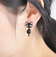 ♪♪送料無料♪♪ 愛らしい子猫 ブラック